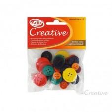 Botones de Madera Colores...