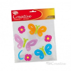 Sticker Gel Mariposa y Flor